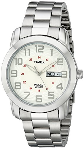 Timex Men's Highland Street Silver-Tone Stainless Steel Bracelet Watch