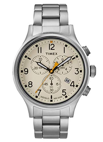 Timex Mens Chronograph Quartz Watch with Stainless Steel Strap