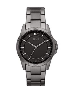 Relic by Fossil Men's Brennan Quartz Sport Watch with Stainless-Steel-Plated Strap, Grey, 22 (Model: ZR12591)