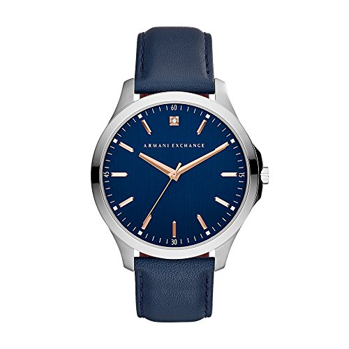 Armani Exchange Men's Analog Display Analog Quartz Blue Watch