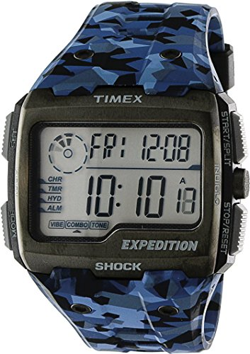 Timex Expedition Grid Shock Digital Dial Plastic Strap Men's Watch TW4B07100