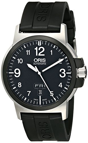 Oris Men's 73576414364RS BC3 Advanced Day Date Black Rubber Strap Watch