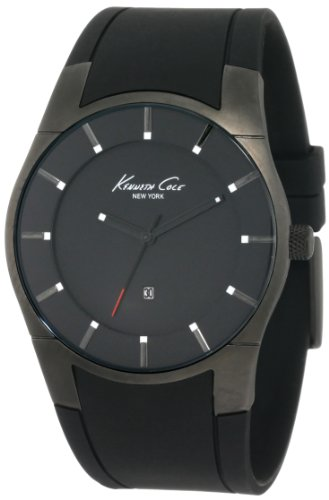 Kenneth Cole New York Men's Quartz Stainless Steel Case Polyurethane Black(Model:KC1557)
