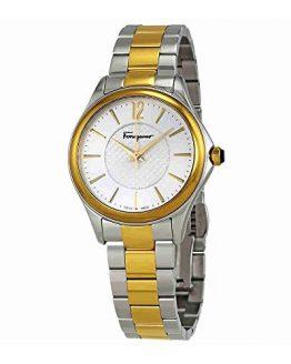 Salvatore Ferragamo Women's 'Time' Swiss Quartz Stainless Steel Casual Watch, Color:Two Tone (Model: FFV050016)