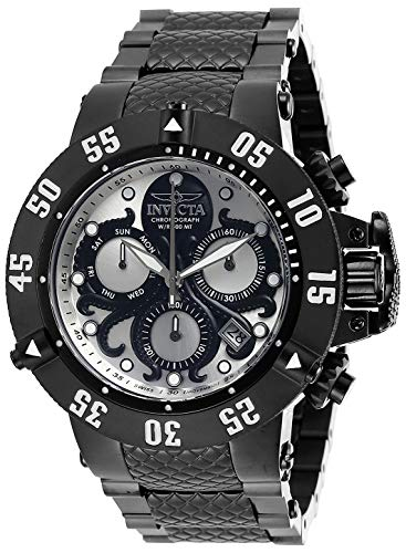 Invicta Men's Subaqua Analog Quartz Watch with Stainless Steel Strap, Black, 28 (Model: 27867)