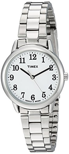 Timex Women's TW2R23700 Easy Reader Silver-Tone/White Stainless Steel Bracelet Watch