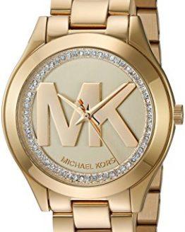 Michael Kors Women's Mini Slim Runway Gold Watch MK3477