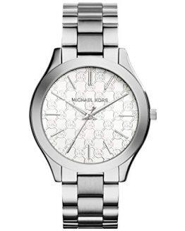 Michael Kors Women's 'Slim Runway' Japanese Quartz Movement Stainless Steel Watch, Color:Silver-Toned (Model: MK3371)
