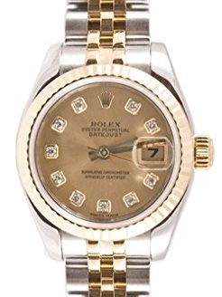 Rolex Ladys 179173 Datejust Steel & 18k Gold, Jubilee Band, Fluted Bezel & Champagne Diamond Dial