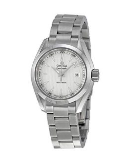 Omega Aqua Terra Silver Dial Stainless Steel Ladies Watch