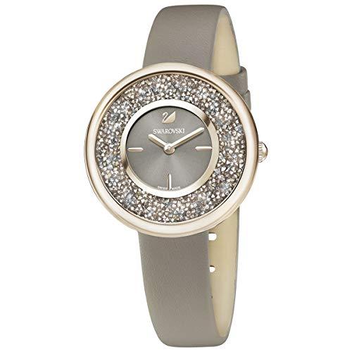 SWAROVSKI Crystal Authentic Crystalline Pure Watch, Leather Strap