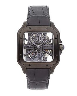 Cartier Santos Mechanical (Hand-Winding) Skeletonized Dial Mens Watch