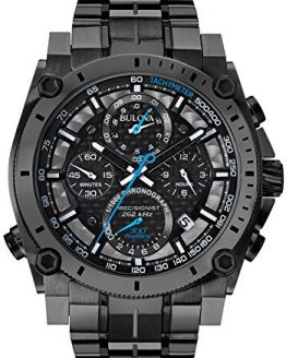 Bulova Men's Precisionist Analog Display Japanese Quartz Black Watch