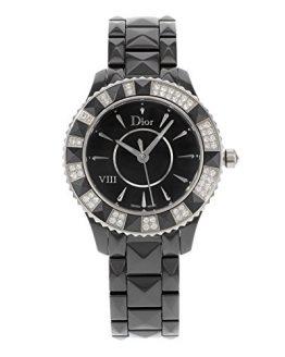 Christian Dior Women's Black Eight Analog Display Swiss Quartz Black Watch