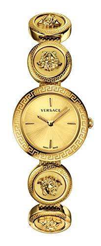 Versace Medusa Stud Icon Ladies Gold-Tone Stainless Steel Watch