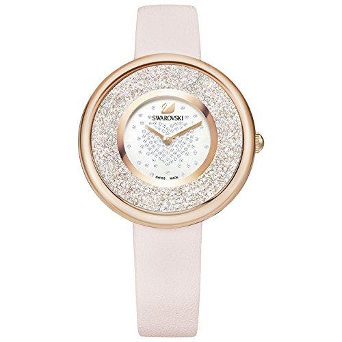 Swarovski Crystalline Pure Pink Leather Ladies Watch
