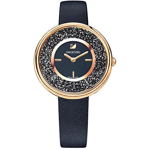 Swarovski Crystalline Pure Black Ladies Watch