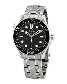 Omega Seamaster Black Dial Men's Diver Watch