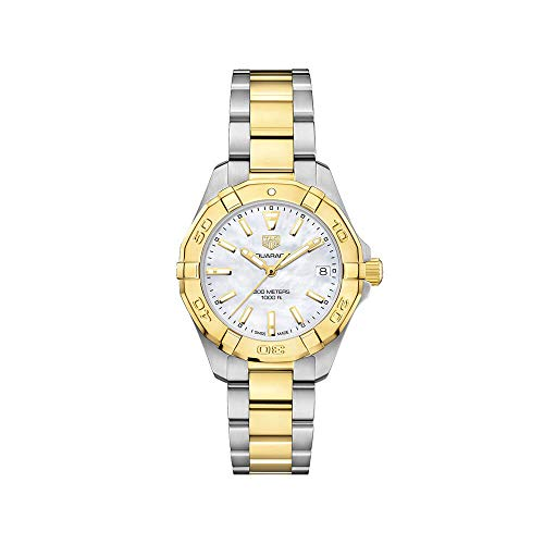 Tag Heuer Aquaracer Mother of Pearl Dial Ladies Two Tone Watch