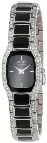 Citizen Women's Eco-Drive Normandie Stainless Steel and Black Watch
