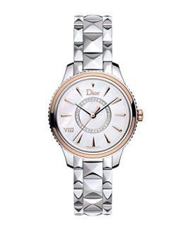 New Ladies Christian Dior Montaigne Steel Rose Gold Diamonds