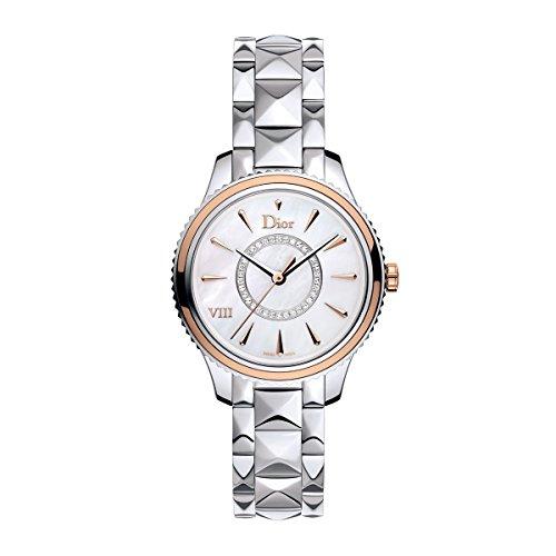 New Ladies Christian Dior Montaigne Steel Rose Gold Diamonds