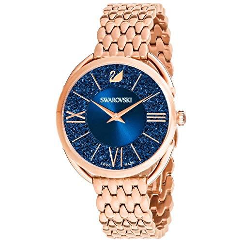 Swarovski Crystalline Glam Watch Metal Bracelet Rose Gold Tone