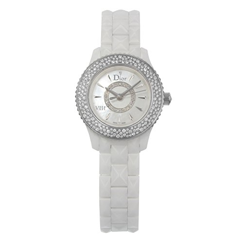Dior VIII Mother of Pearl White Hi Tech Ceramic Diamond Ladies Watch