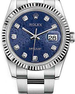 Rolex Datejust 36 Blue Diamond Jubilee Dial Luxury Watch 116234