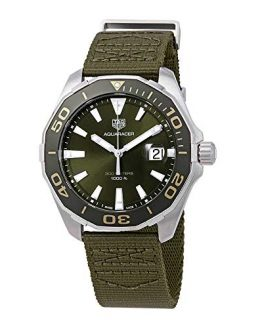 TAG Heuer Aquaracer 43mm Men's Watch w/Khaki Textile Strap