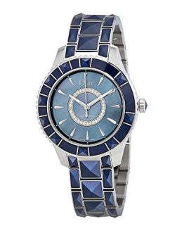 Dior Christal Blue Mother of Pearl Dial Automatic Ladies Watch