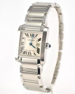 Cartier Midsize Tank Francaise Stainless Steel Watch