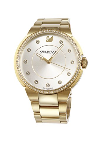 Swarovski City Silver Dial Yellow Gold-tone Ladies Watch