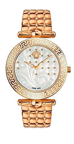 Versace Women's Vanitas Analog Display Swiss Quartz Gold Watch