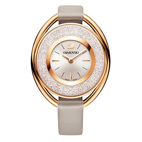 Swarovski Crystalline Oval Rose Gold-Tone Ladies Watch