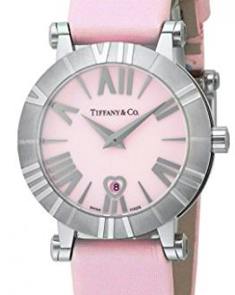Tiffany & Co. Watch Atlas Pink Dial Satin Belt