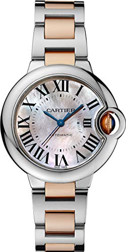 Cartier Ballon Bleu Mother of Pearl Automatic Ladies Watch