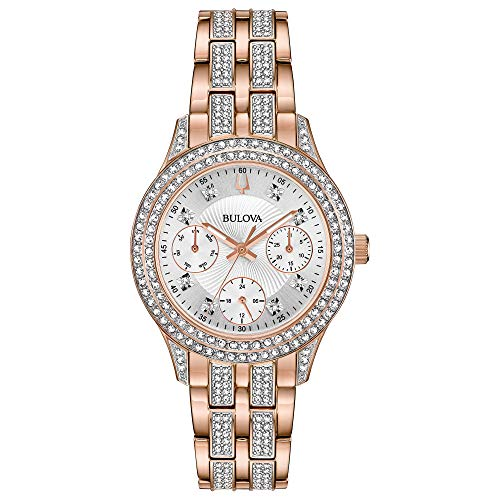 Bulova Women's Swarovski Crystal Quartz Watch with Stainless-Steel Strap