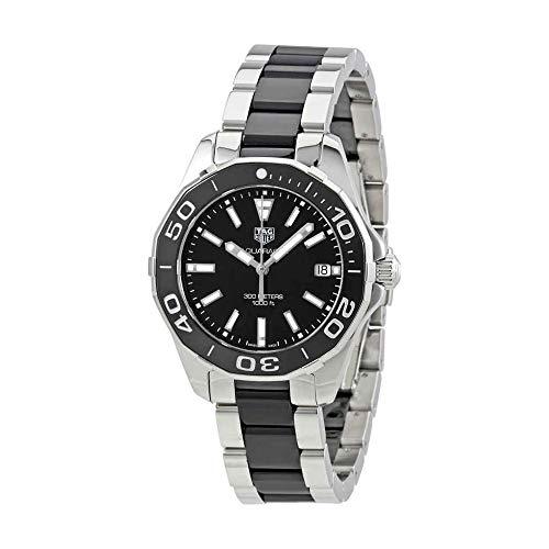 Tag Heuer Aquaracer Black Dial Steel and Ceramic Ladies Watch
