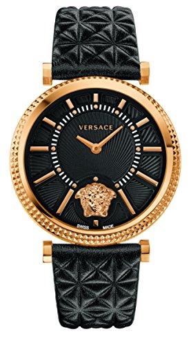 Versace Women's V-Helix Analog Display Quartz Black Watch