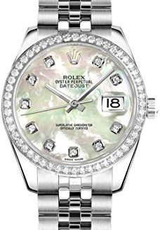 Rolex Lady-Datejust 26 Mother of Pearl Dial Diamond Women's Watch 179384