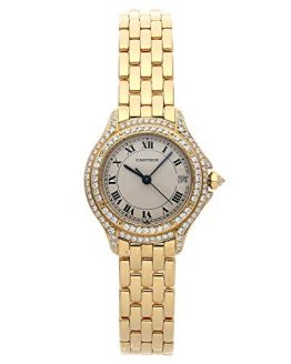 Cartier Cougar Quartz (Battery) Silver Dial Womens Watch