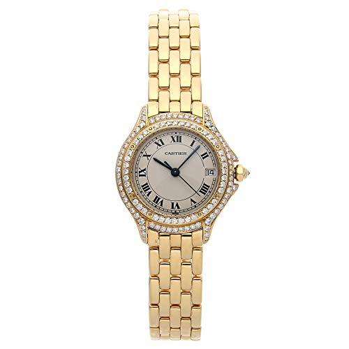 Cartier Cougar Quartz (Battery) Silver Dial Womens Watch