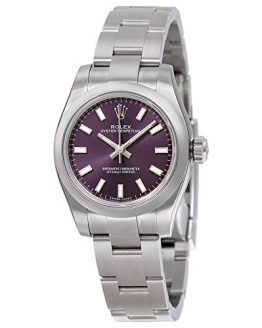 Rolex Oyster Perpetual Automatic Purple Dial Stainless Steel Ladies Watch 176200PUSO
