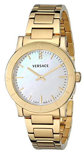 Versace Women's Acron Diamond-Accented Gold-Plated Watch