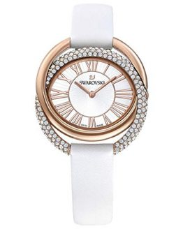 Swarovski Duo White Band Watch