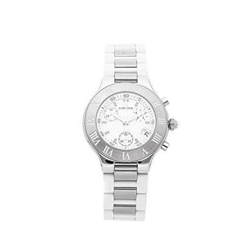 Cartier Must 21 Quartz (Battery) White Dial Mens Watch