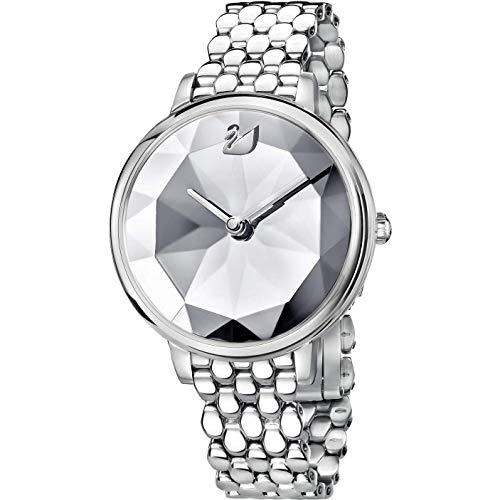 Swarovski Crystal Lake Watch, Metal Bracelet, White