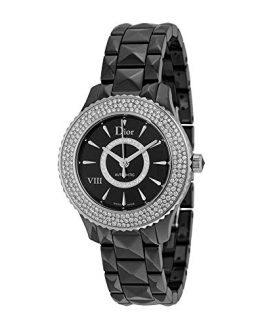 Christian Dior VIII Diamond Black Ceramic and Steel Ladies Watch