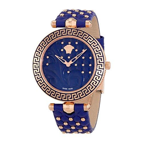 Versace Vanitas Blue Dial Ladies Leather Watch